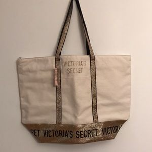 Victoria's Secret large canvas tote bag NWT $58